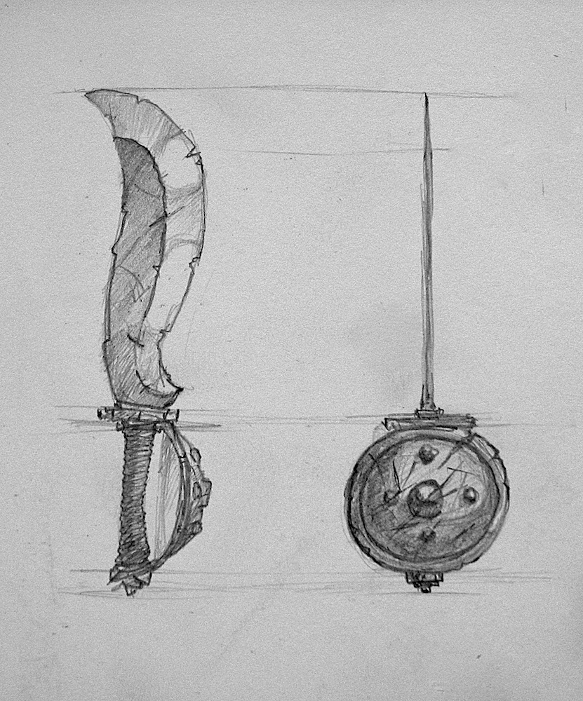 Drawings weapons